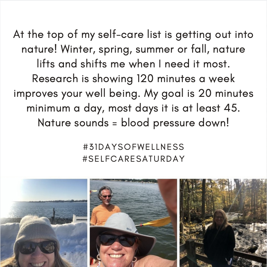 Laureen show's off how she loves nature with pictures of her in winter, summer and fall!